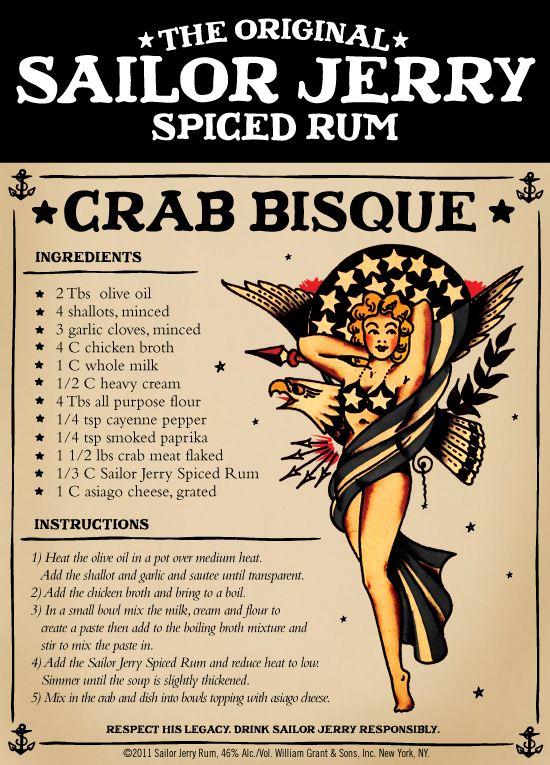 The Original Sailor Jerry Spiced Rum Crab Bisque