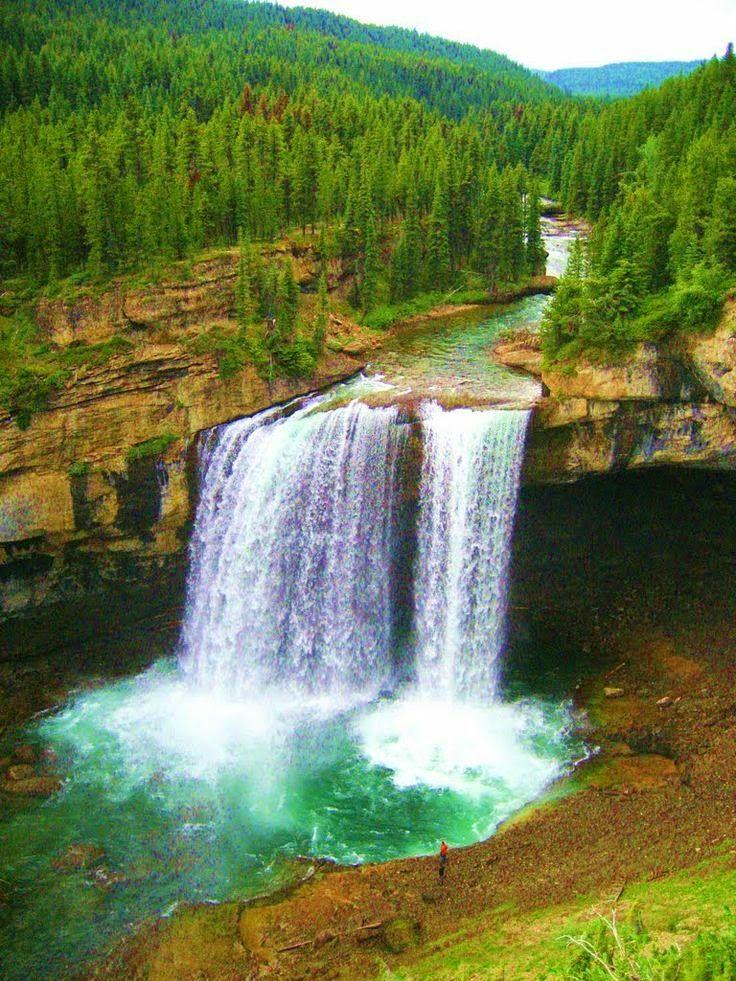 Tallest waterfall in Alberta - Kakwa Falls, near G.P. Alberta, Canada