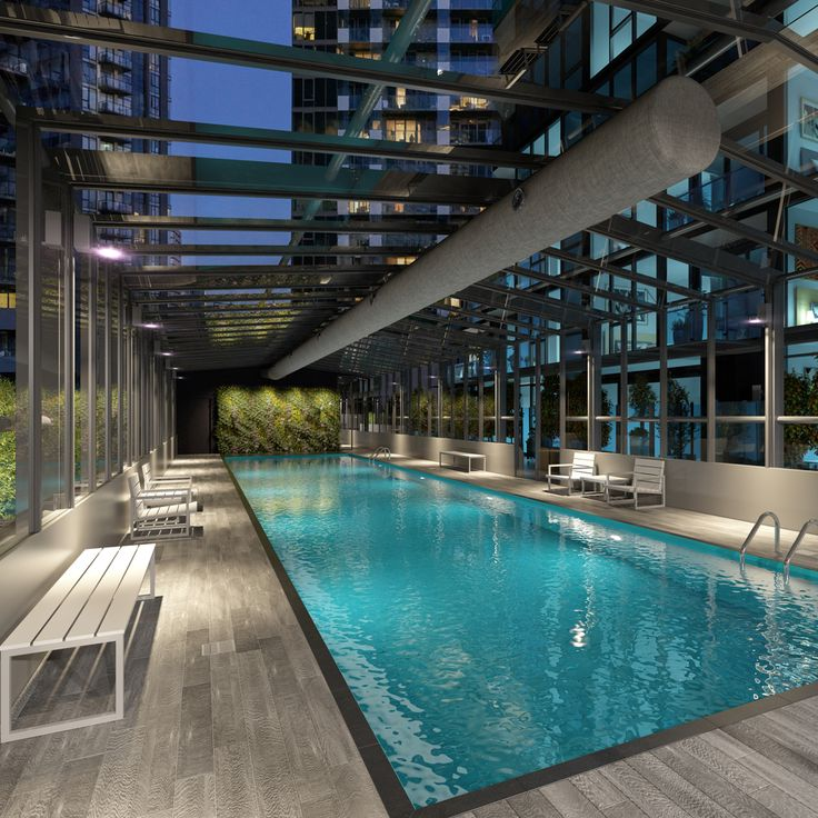 Stylish resident facilities at Southbank Central include a glass roofed indoor pool