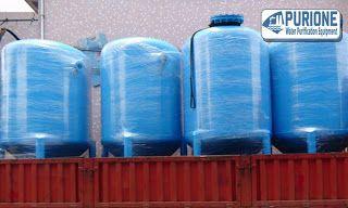 Tangki Sand Filter 5 m3/h adalah tangki filter bertekanan yang berisi media filter pasir silika untuk kapasitas laju air 5000 liter per jam - http://www.purione.com/2017/02/tangki-sand-filter-5-m3jam.html