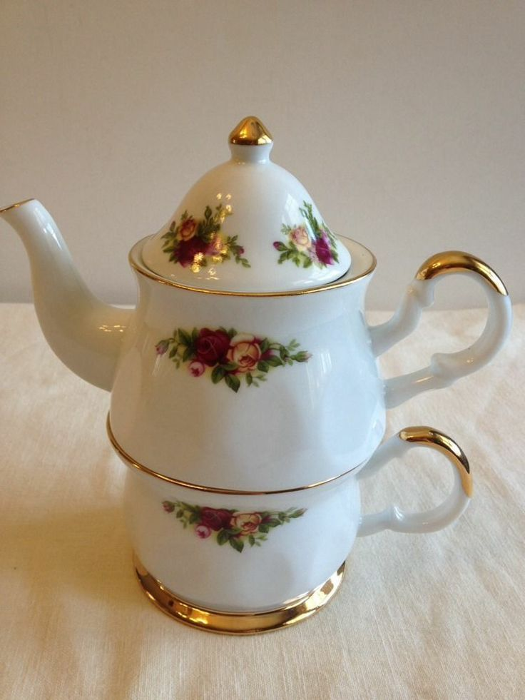 royal doulton old country rose | ROYAL ALBERT Doulton China OLD COUNTRY ROSES Tea For One Small Teapot ...