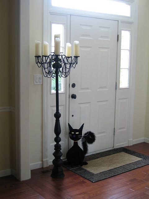 DIY CandelabraDecor, Ideas, Diy Candelabra, Diy Halloween, Candles Holders, Guest Projects, Thrift Stores, Halloween Candelabra, Pvc Pipe