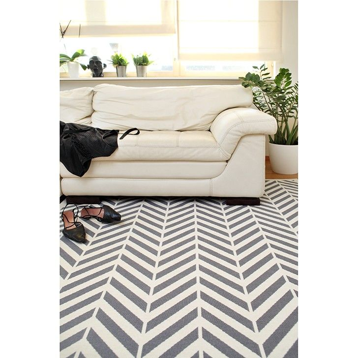 AIRLOOM | Chevron Carpet in White - Homeware - 5rooms.com