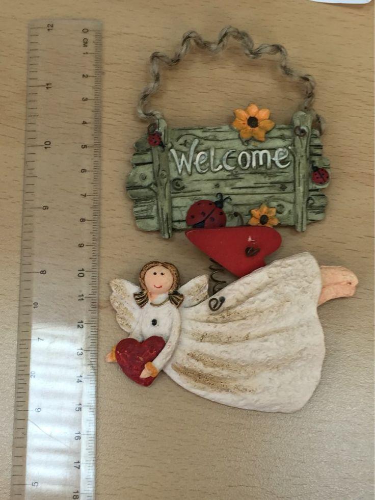 Frete grátis, Moda resina do vintage pouco anjo decoração de casa finaning, Placa porta. Sinal de boas vindas. Pingente. Pingente de resina