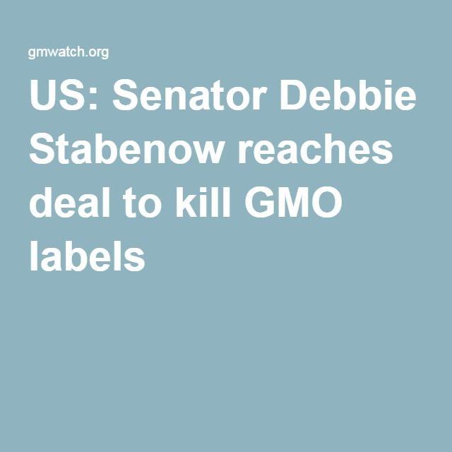 US: Senator Debbie Stabenow reaches deal to kill GMO labels