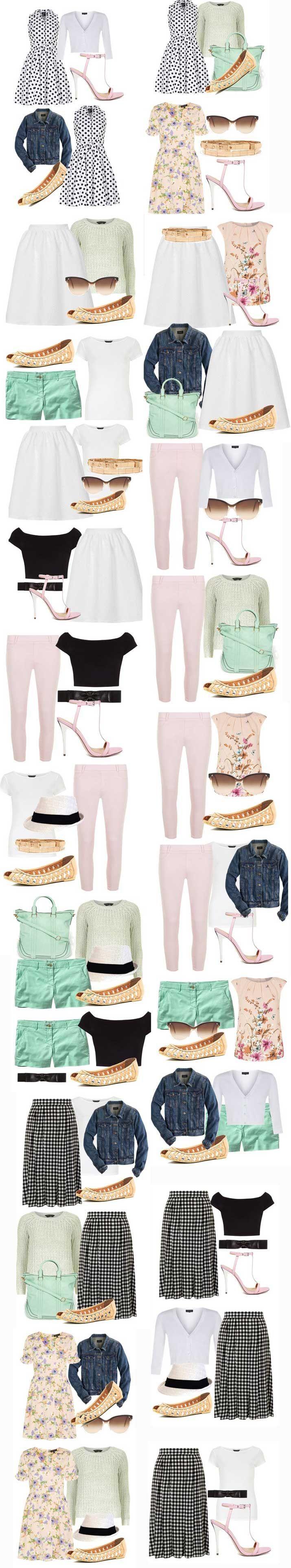 Summer Capsule Wardrobe: create a perfect capsule wardrobe Shoeperwoman