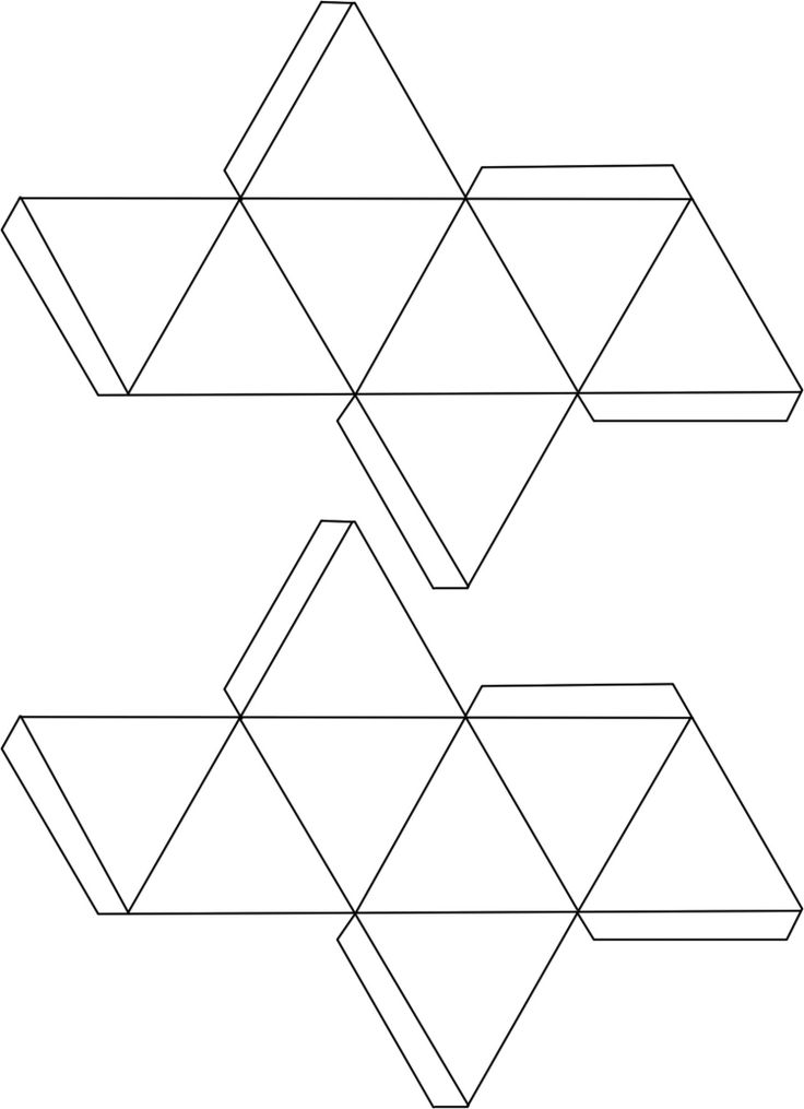 Vorlage für Hohlkörper zum Falten – Oktaeder …