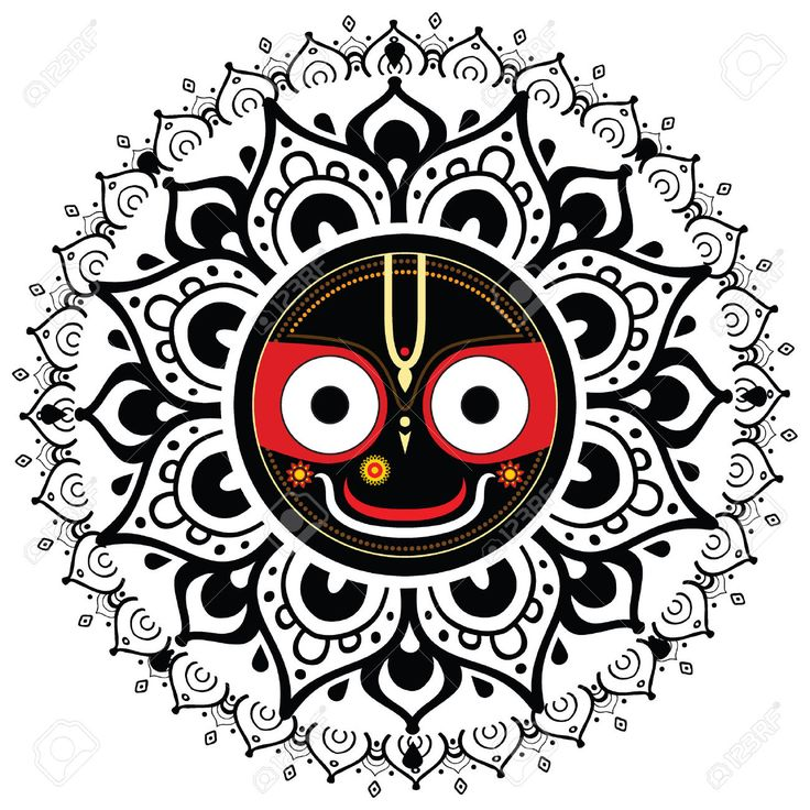 24350131-jagannath-indian-god-of-the-universe-lord-jagannatha.jpg (1300×1300)