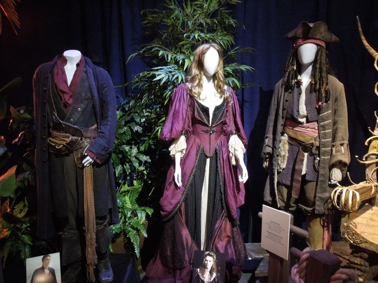 Original movie costumes and props from   the Pirates of the Caribbean movies on disp
