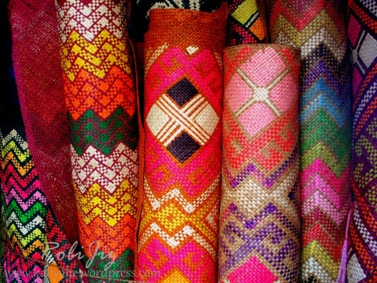 Banig or sleeping mats woven in Basey, Samar in the Philippines.