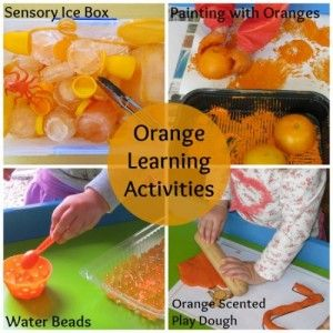 learning colour orange activities