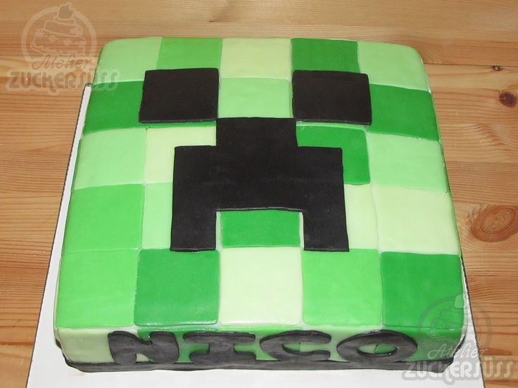 Creeper Cupcake Cake Decoration Guide