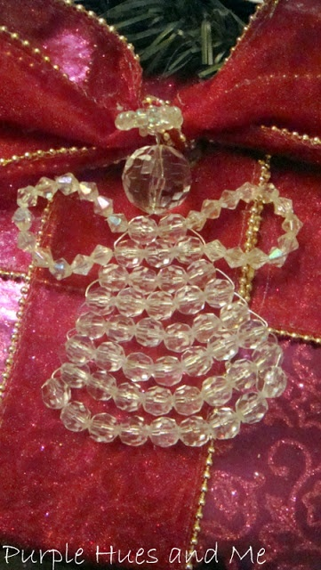 Christmas Beaded Angel Ornament