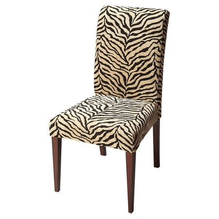 Beautiful Upholstered Parsons Side Chair With Tapered Legs. Product:  ChairConstruction Material: Poplar Solids,