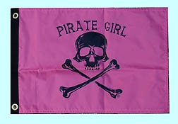 Pirate Girl Party Flag