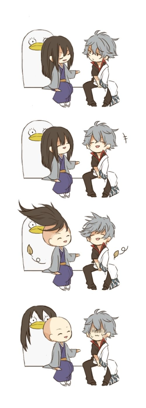 Gintama Zura Gintoki Elizabeth...well then XD