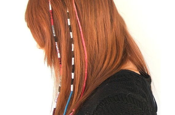 Ombre Pink Tribal Hippie Thread Hair Wrap Dread by AmplifiedPeople