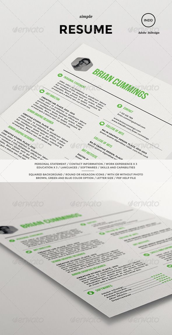 minimalistic  clean  resume template perfect for creative  professionals  in brown  blue or