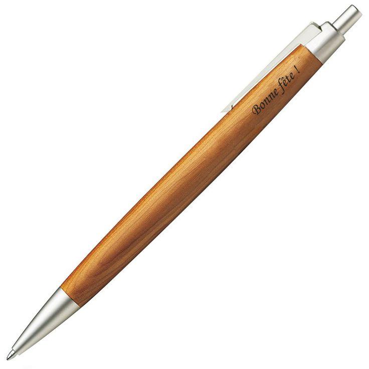 Stylo bille gravé Lamy 2000 Taxus. Un bois précieux habille le corps de ce stylo original et de qualité ... allemande. #stylo #personnalise