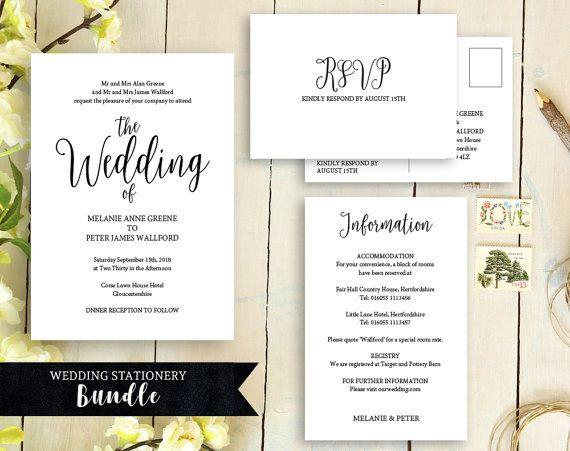 Wedding Invitation Invitation Template By DigitalDollyDesigns