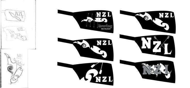 My logo design for Rowing Newzealand
