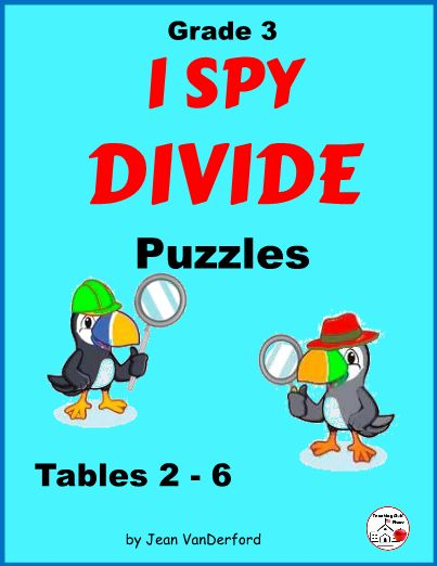 Division Facts Worksheet Puzzle Activity ... CORE MATH Grade 3 ... I Spy Divide is a great way to reinforce division facts ... Puzzles work the same as word searches but using numbers instead of words ... 5 puzzles, KEYS, Awards ...NO PREP ... DIVISION FUN ... Repeating the division patterns over and over will help students reinforce the facts as they search for dividends, divisors, and quotients .