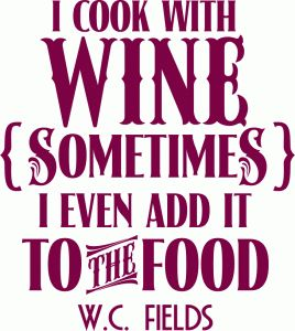 So True! Silhouette Online Store: 'i cook with wine' vinyl phrase
