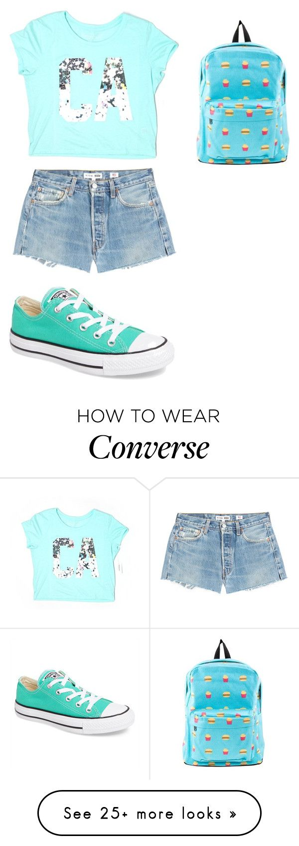 """""""Без названия #1129"""" by gazieva-dinara on Polyvore featuring Aéropostale, RE/DONE and Converse"""