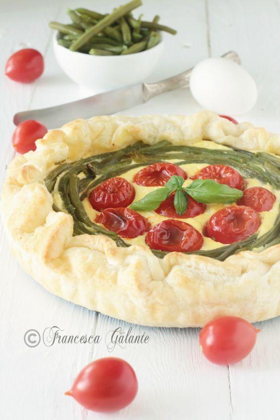 Torta salata con fagiolini ricotta e pomodori - I Sapori di Ethra