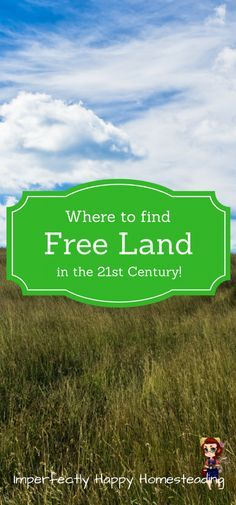 Where Free Land Can Be Found in the 21st Century for Your Homestead!