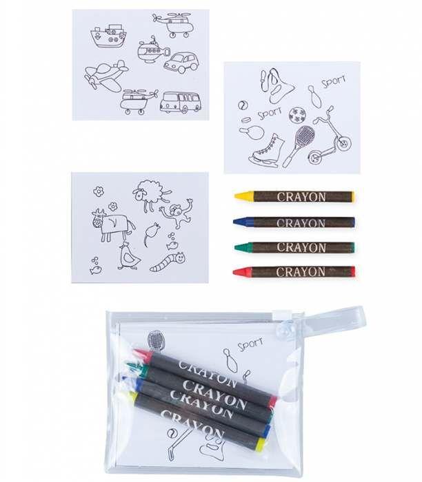 Set 12 láminas para pintar con ceras en bolsa
