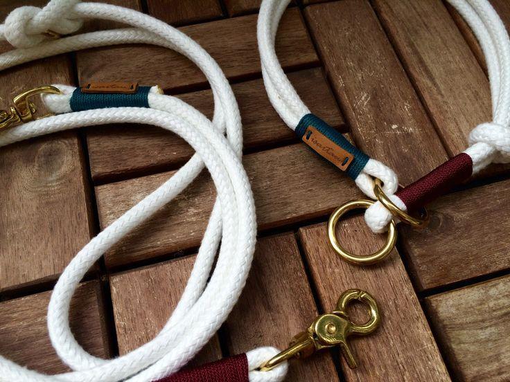 Hier siehst Du einige meiner Ideen für isartaue: Für Deine perfekte Hundeleine und Halsband kannst Du aus verschiedensten Farben und Materialien wählen.