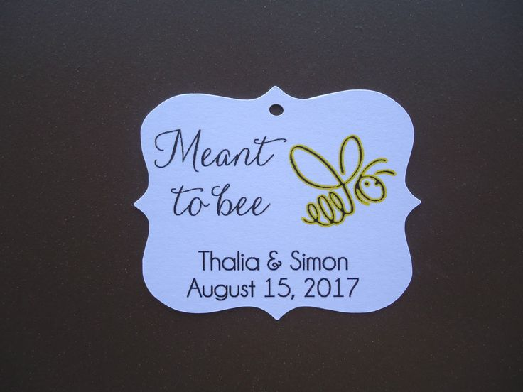 10 Kraft White Gift Tags Wedding Favour Bomboniere Personalised Meant to bee
