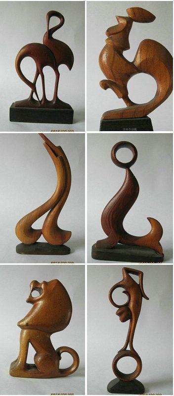 woodcarving--animals by LINWANG:☽ ¯\_(ツ)_/¯ ☽ ☼☾✧・゚. ¯\_(ツ)_/¯