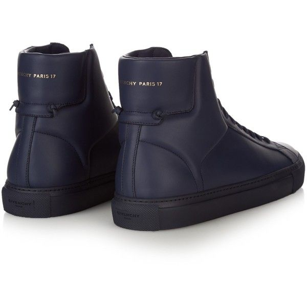 Givenchy Urban Knots high-top leather trainers (570 AUD) ❤ liked on Polyvore…