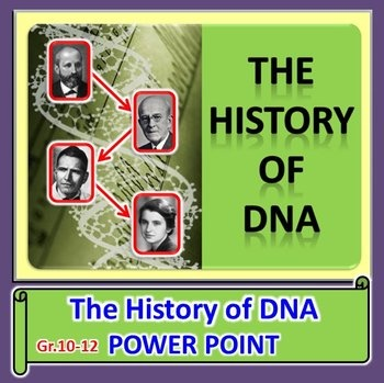 The History of DNA - PowerPoint {Editable} | The history, 14 and Dna