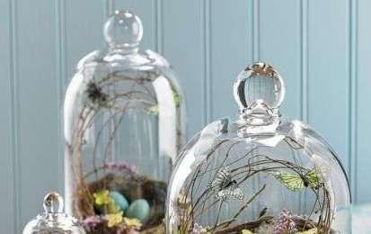 Come decorare casa con le campane di vetro - Campane di vetro con decorazioni pasquali