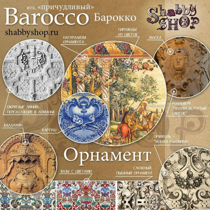 Орнамент стиля Барокко
