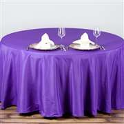 "Purple 90"" Round Tablecloth"