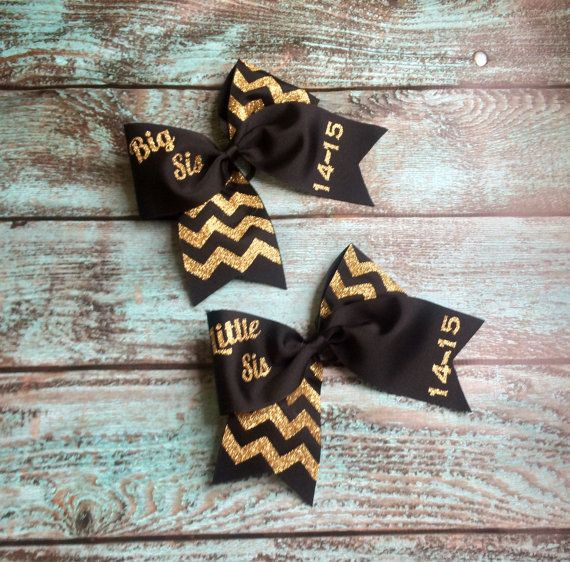 Big Sis Little Sis Sorority Sister Gifts Monogrammed gifts, Bows, by PoshPrincessBows1