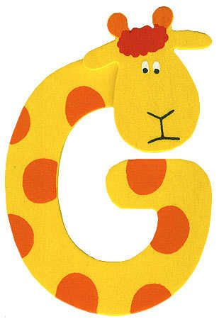 A fun wooden letter - painted and finished with a Giraffe head.  Fantastic for a child's bedroom
