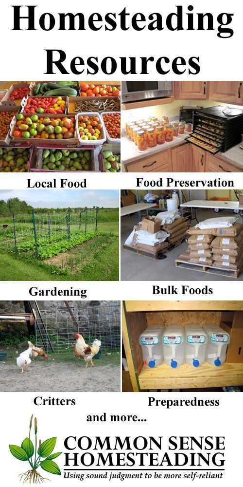 Homesteading Resources - Real food, food preservation, gardening, local food, natural health, homestead animals, homemaking, survivalism, preparedness.