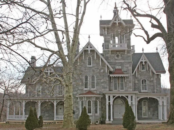 Lockwood mansion built 1865 in pa italianate design with for Castle style homes for sale