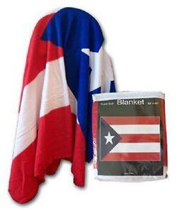 """Puerto Rico Polar Fleece Blanket (size 50""""x60"""")."""