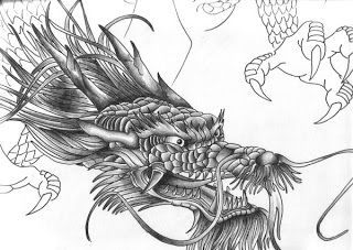 japanese koiDragon Tattoos | new japanese tattoo: Beautiful Dragon Head Tattoo Designs