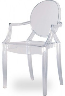 louis ghost chair, philip stark