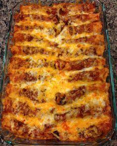 Beef Enchiladas with Homemade Mexican Red Sauce Recipe http://cookonawhim.com/2013/10/22/beef-enchiladas-with-homemade-mexican-red-sauce/
