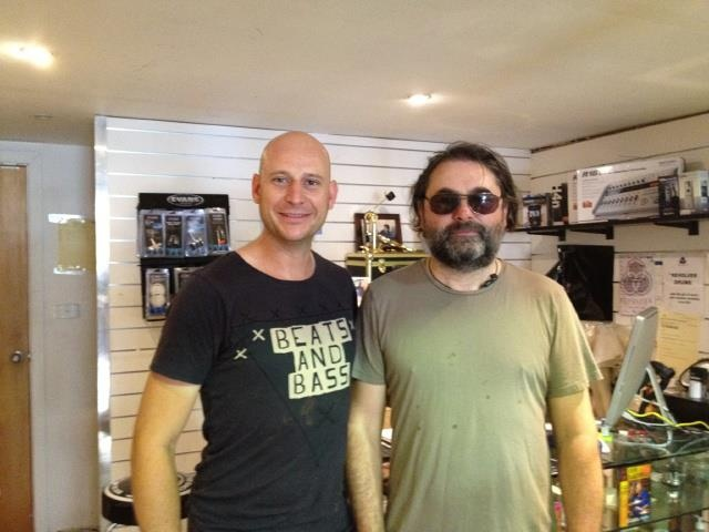Jeremy Stacey, drummer for Sheryl Crow and Noel Gallagher visits Revolver Drums in between shows on the Big Day Out 2012 tour.