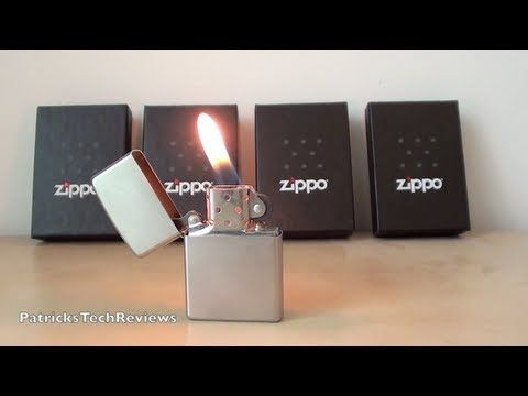 Satin Chrome Zippo Lighter 205 - short review - YouTube