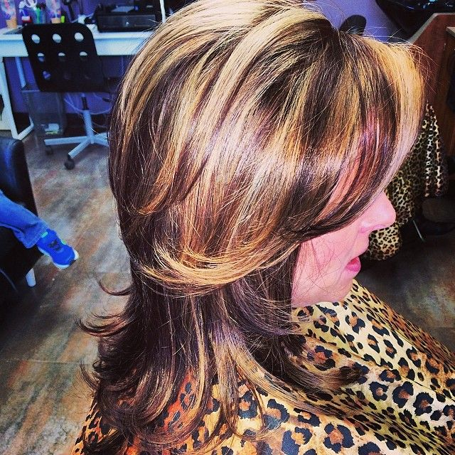 #ShareIG Highlight and blowout by @michviglia_shears  #portjeff #roots #wedohair